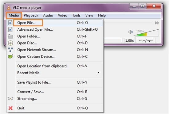 open mov video in vlc