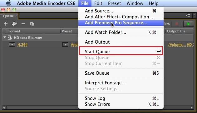 start encoding mov to swf
