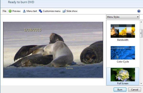 Burn Windows Movie Maker to DVD