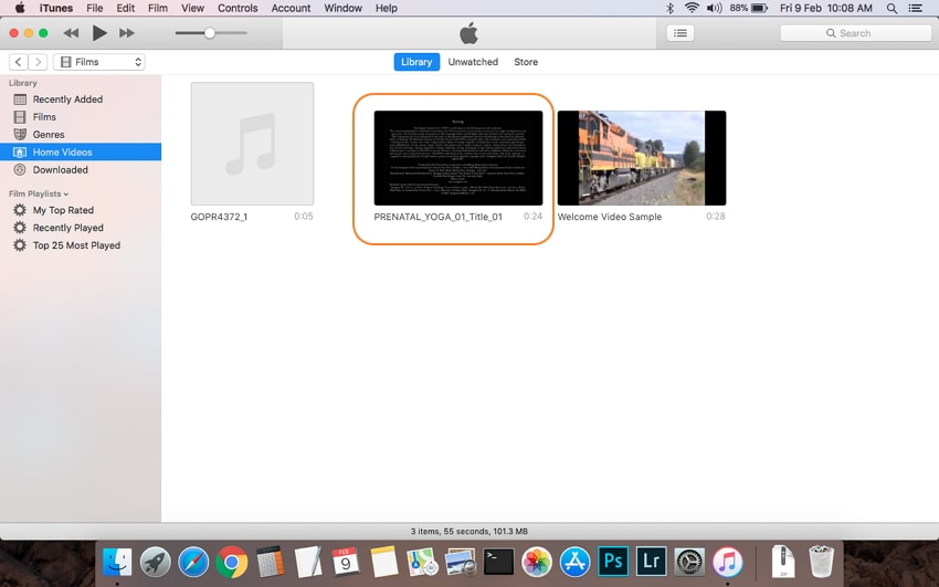 Find DVD video in iTunes