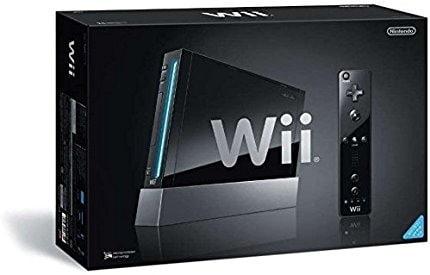 Console Nintendo Wii, preto