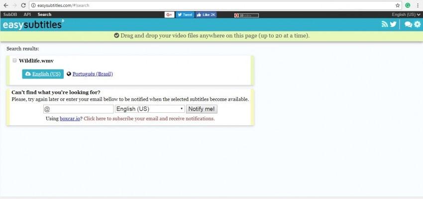download subtitle online