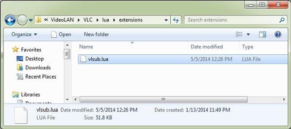 download vlsub extension