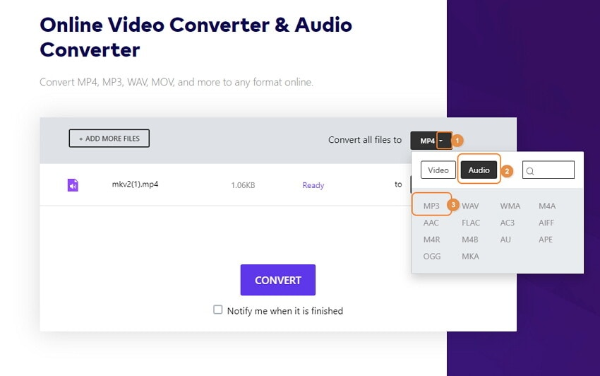 how to convert video to audio iphone