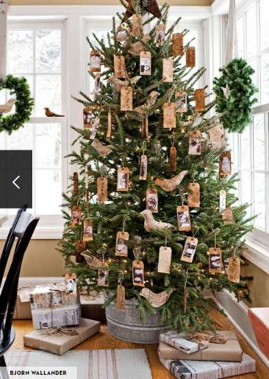 Pictures decorated Christmas tree