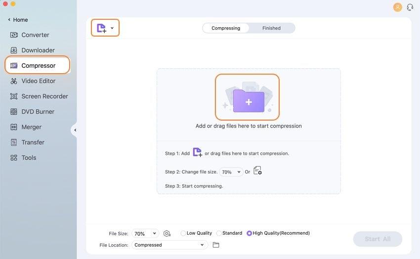 add video to mac compressor