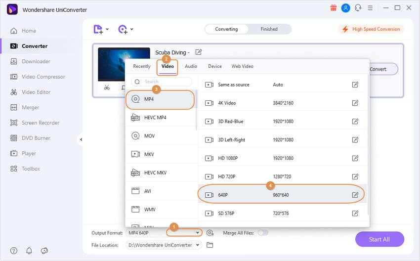 Change file format to shrink video size