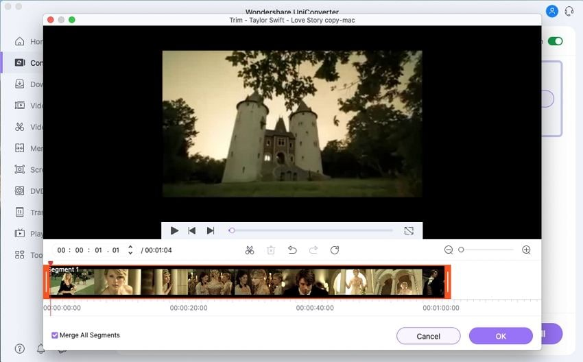 compress MP4 on Mac-cut the MP4 video