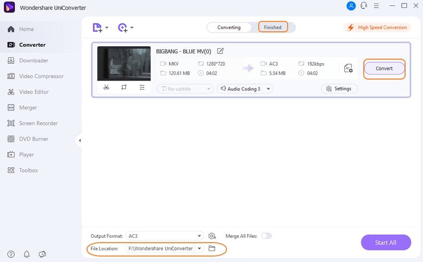 convert MKV videos to audio