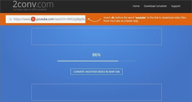 Google MP3 Online Converter - 2Conv