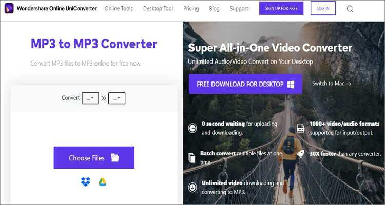 Google MP3 Online Converter - Online UniConverter