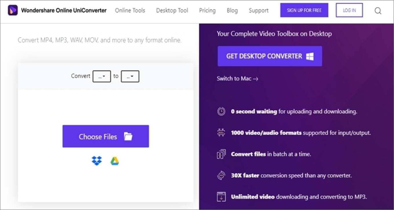 Google MP4 Online Converter - Online UniConverter