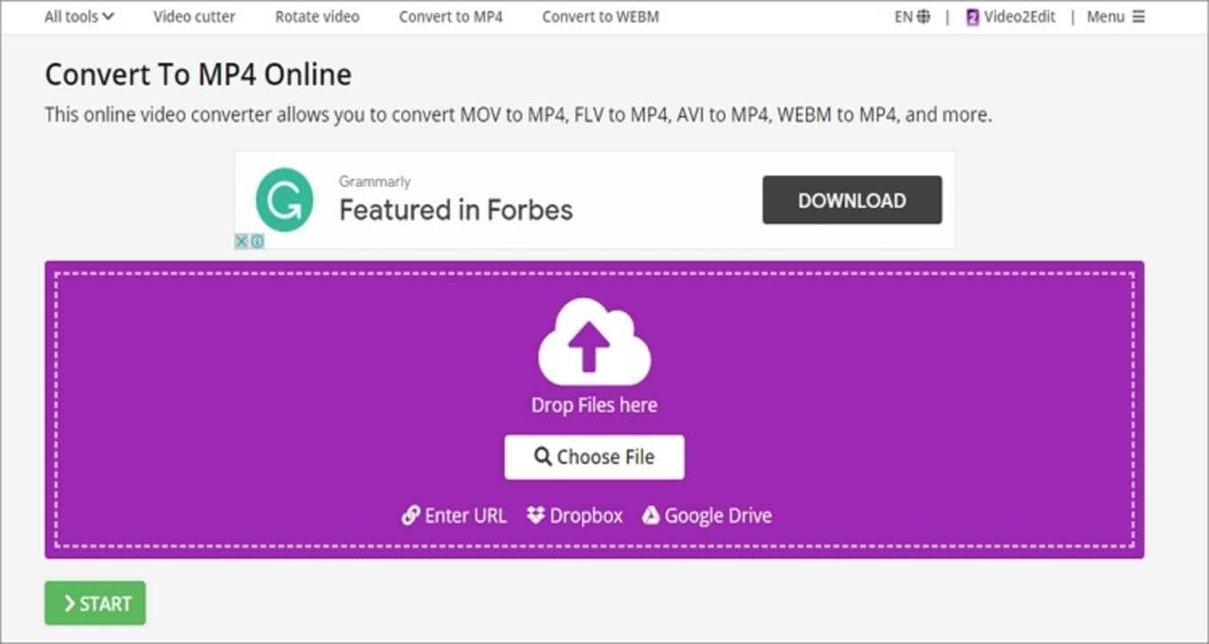 Google MP4 Online Converter - Video2Edit