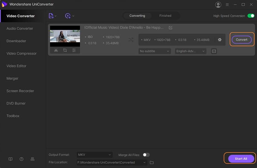 convert blu ray iso to mkv Mac/Windows
