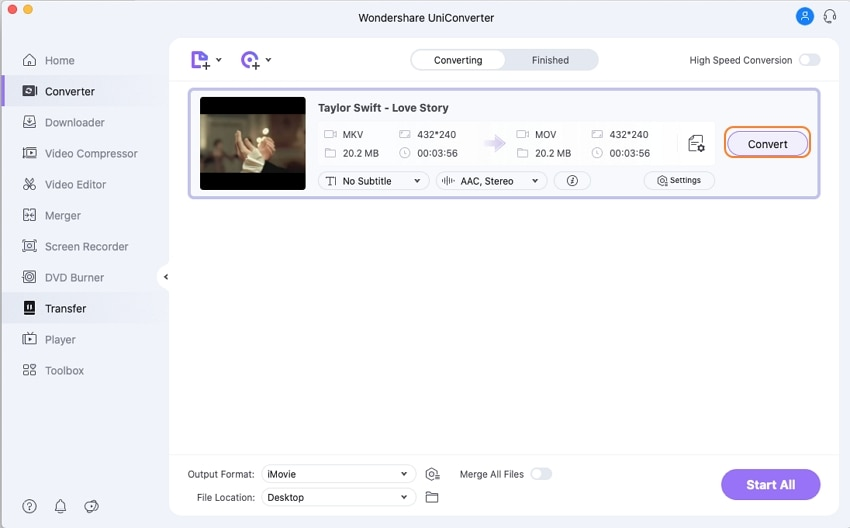 convert mkv to imovie - convert