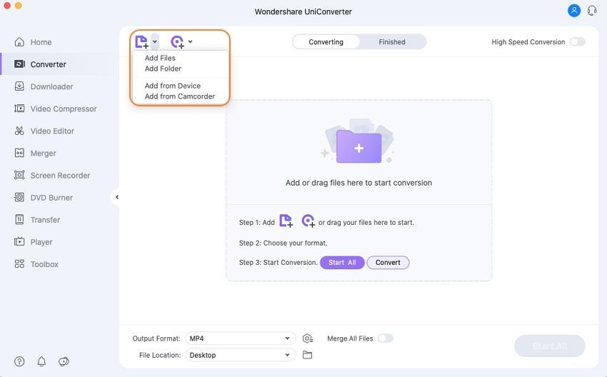 Add media files to Mac media player