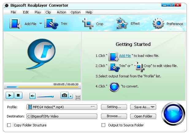 Bigasoft RAM converter