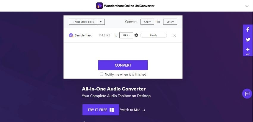 converter whatsapp mp3 online uniconverter
