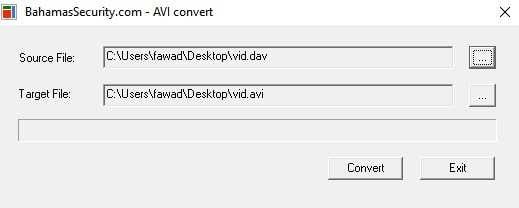 Dahua AVI Convert