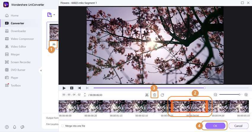 how to trim video in uniconverter