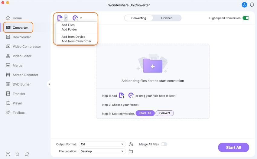 add avi videos to convert