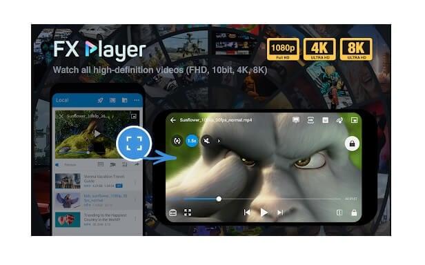 DivX Player für Android - FX Player
