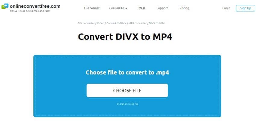 DivX converter online -Onlineconvertfree