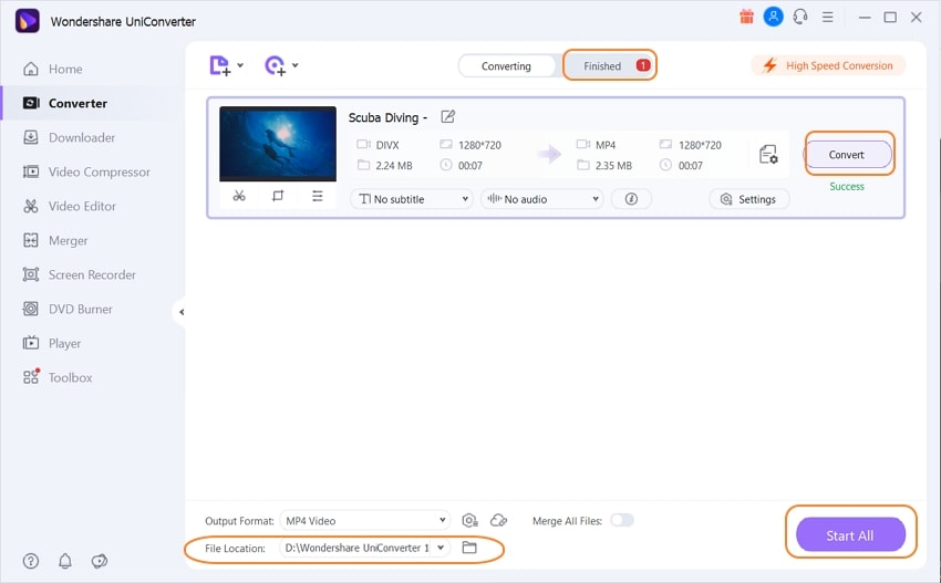 Convert DivX to other format