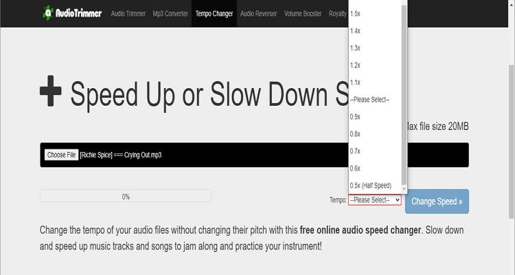 speed up video with AudioTrimmer