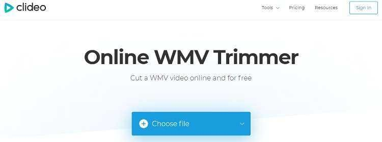 Clideo WMV Trimmer