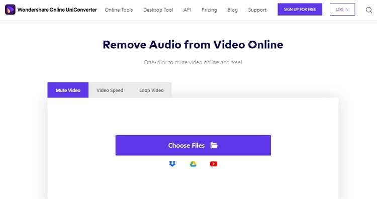 Mute Video Online with the Online UniConverter