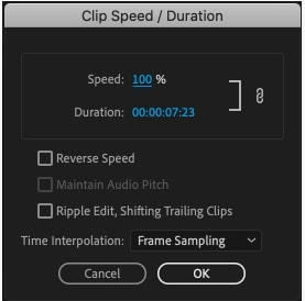 Speed Duration command