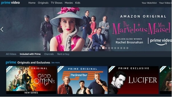 4k movie sites - Amazon Prime