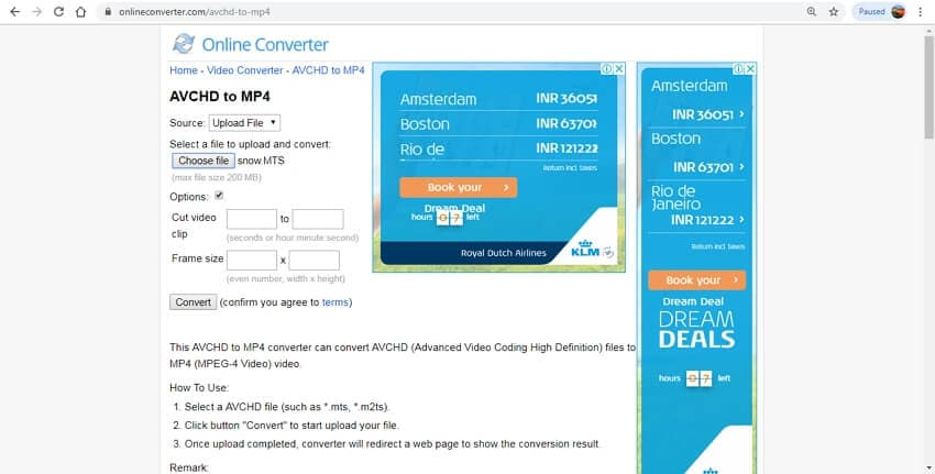AVCHD to MP4 online - Online Converter