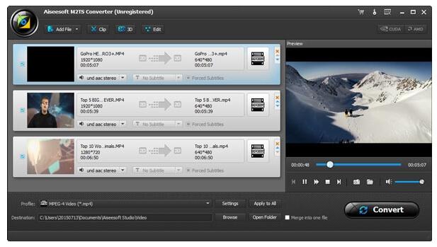 m2ts file converter - Aiseesoft M2TS Converter