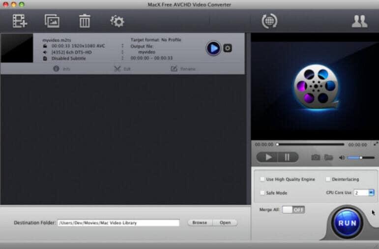 MacX Free AVCHD Video Converter