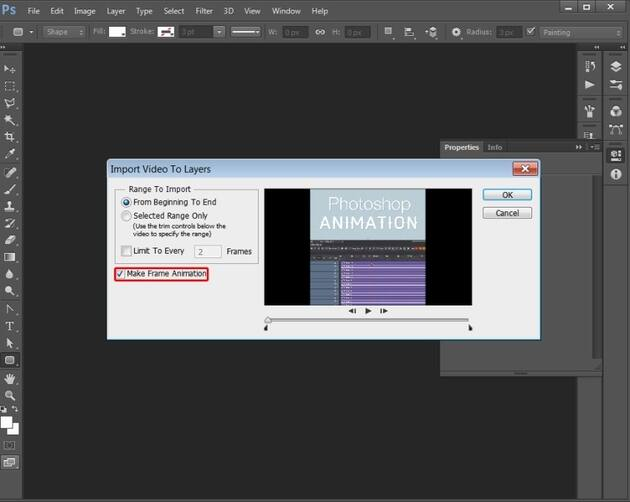 convert video to GIF with photoshop