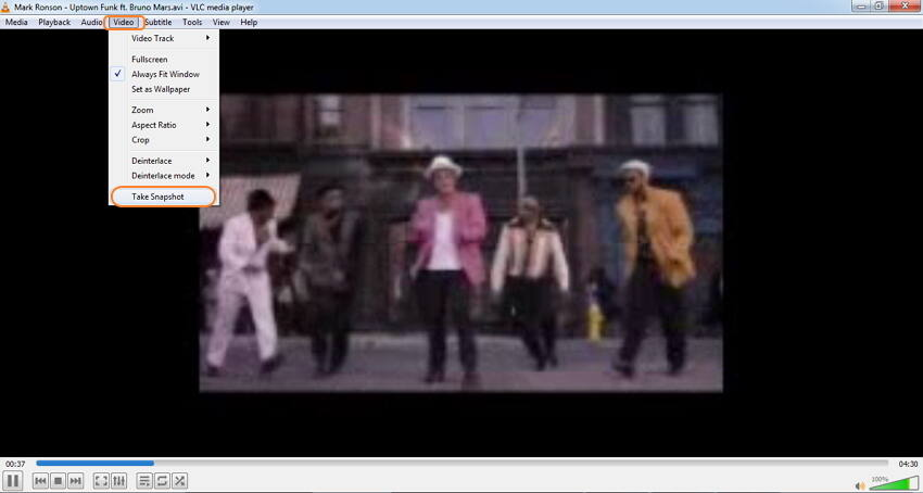 Bilder aus Videos mit VLC erhalten
