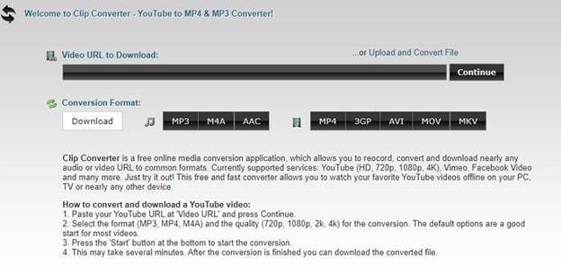 AVI mit ClipConverter.cc zu MPEG konvertieren