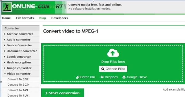 convert AVI to MPEG Online-Converter