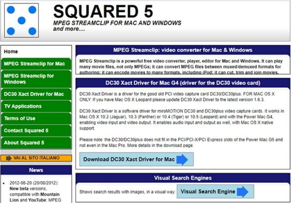 convert AVI to MPEG by Squared 5