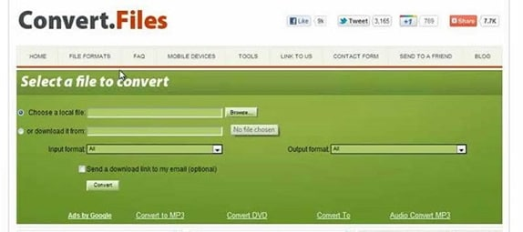 convert FLV to AVI by Convert Files Converter