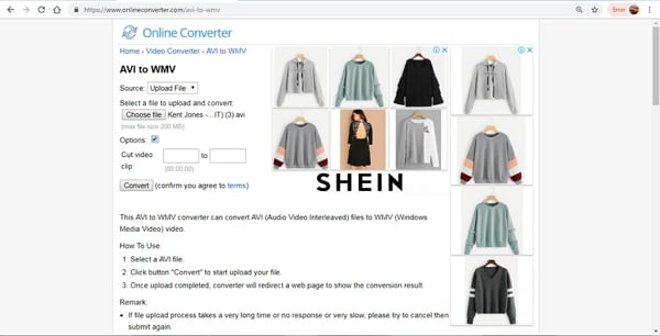 convert avi to wmv online converter