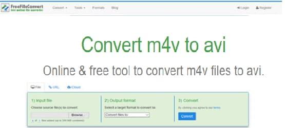 M4V zu AVI mit FreeFileConvert konvertieren