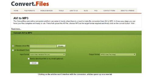 online avi to mp3 converter-convertfiles