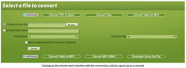 convert AVI to MPEG-2 by Online Video Converter to MPEG-2