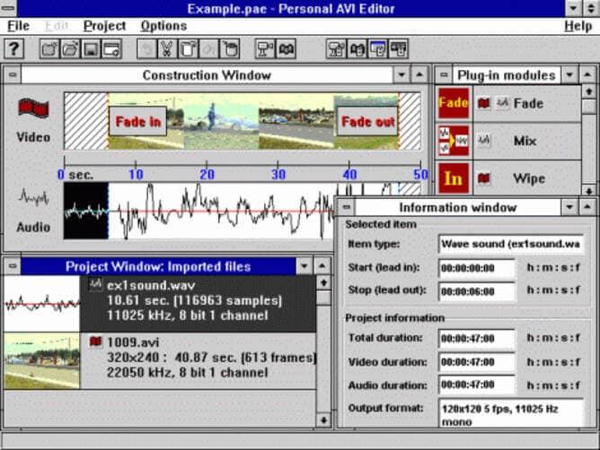 Cut AVI Files - Personal AVI Editor