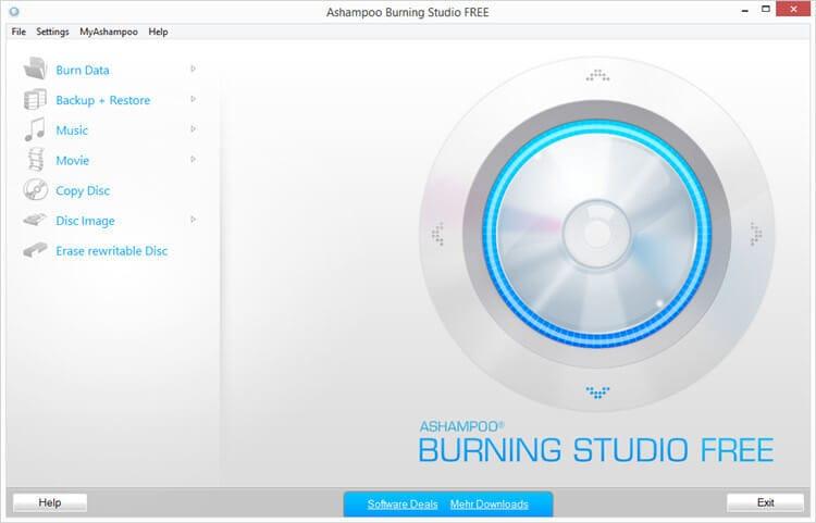 burn cd program with Ashampoo Burning Studio