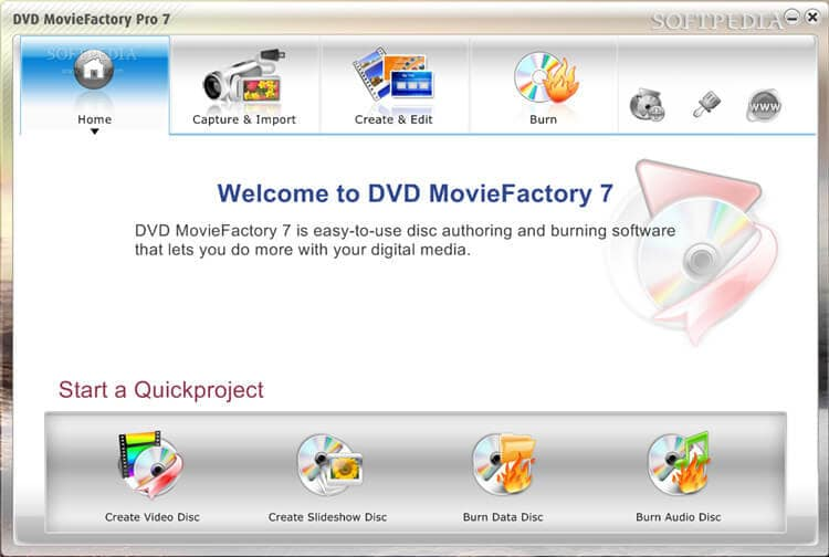 burn cd program with with DVD Movie Factory