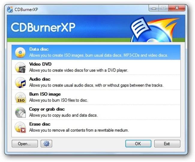 burn files to CD on Windows